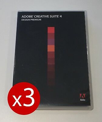 THREE Commercial User Licences — Adobe Creative Suite CS4 Design Premium Mac OSX