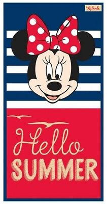 Disney Minnie Maus 'Hello Sommer' Charakter 100% Cotton Velour Strandtuch