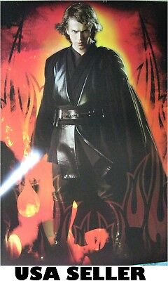 Anakin Skywalker with light sabre POSTER 23.5 x 34 Star Wars Jedi first episodes