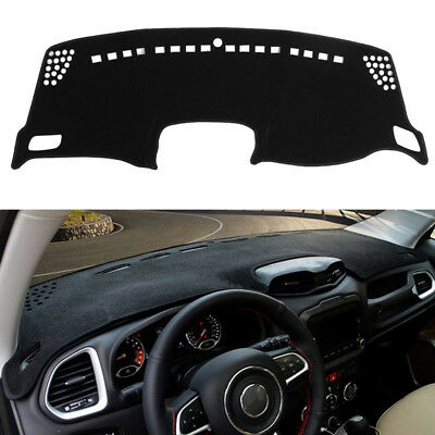 For Jeep Renegade 2015-2017 Dash Cover Mat Dashboard Pad / Black 2015 2016 2017