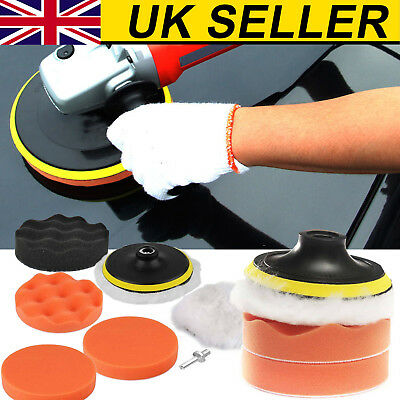 6X3 inch Buffing Pad Kit For Polishing wheel Auto Car With Drill Adapter UK