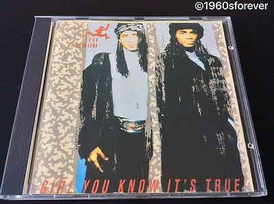 $1.99 CD...Milli Vanilli - Girl You Know It's True, Arista Canada OOP  NEAR MINT