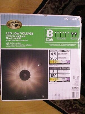 New Hampton Bay Led Low Voltage Bronze Outdoor Pathway Light 8 Pack