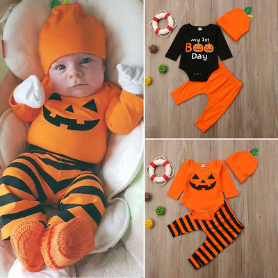 US Halloween Newborn Baby Boy Romper Jumpsuit Bodysuit Pants Clothes Outfit Set