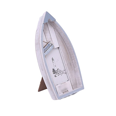 Sil Interiors Wooden Boat Free Standing Photo Frame - Boat Photo Frame