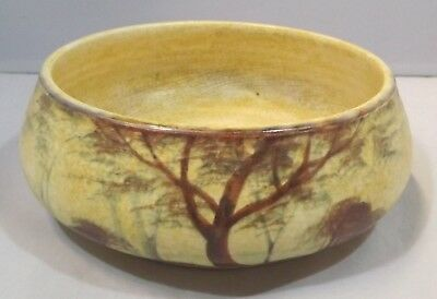 Vintage 1930s Edward Radford Pottery Bowl - 'Trees' Pattern by James Harrison