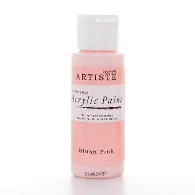DoCrafts Artiste Blush Pink Acrylic Craft Paint - 59ml / 2oz Bottle
