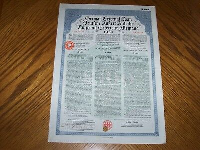 Set of 2 Different World War One German Reparations Bond with Coupons