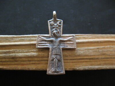 EARLY MEDIEVAL BYZANTINE SILVER CROSS  6-8 ct. A.D. 45 mm