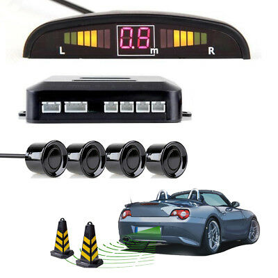 12V Police Safe Voice 4 Sensors Parking Reverse Backup Radar System for car