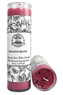 Dragons Blood 7 Day Soy Spell Candle Love Power Purification Wiccan Pagan Hoodoo