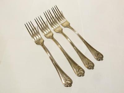 4 x Antique French Silver Plated Forks Paris with GC Initials 84 Mark