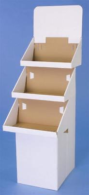 Displays2go 3-Tier Display for Floor 65.75-Inch H Dump Bin Corrugated Cardboard