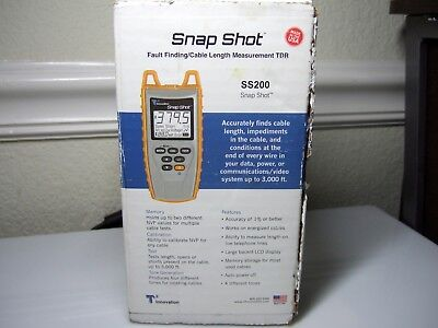 T3 Innovation Snap Shot SS200 Fault Finding Cable Measurement Tool TDR Kit NIB