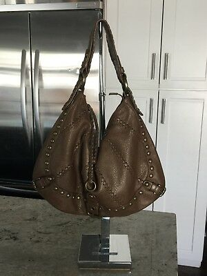 Isabella Fiore Taupe Leather Whipflash Audra Large Hobo