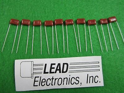QTY10 NEW Panasonic .01uF 400V 10% Metallized Polyester Capacitor ECQ-E4103KF