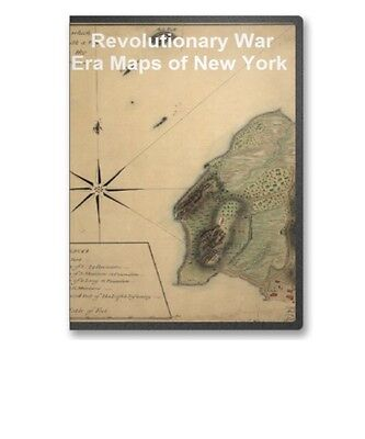 84 Historic Revolutionary War Maps of New York NY on CD - B65