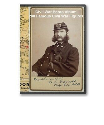 200 Famous Civil War Figures On Portrait Cards Generals Soldiers -  CD - B27