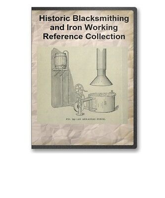 Blacksmithing Library: Blacksmith Forging Anvil Wrought Iron Work 20 Books B291