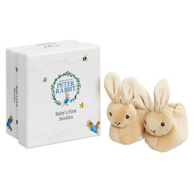 Peter Rabbit my first booties new baby shower gift 0-6 months unisex rattle toe