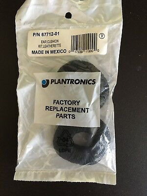 Plantronics Replacement Leatherette Ear Cushions p/n 67712-01 (package of 2)