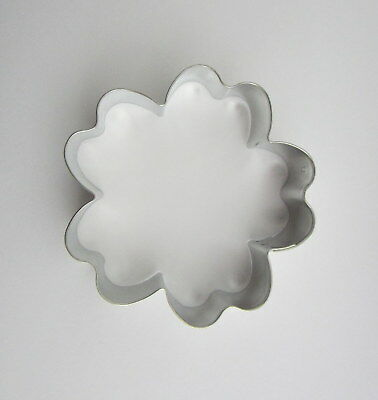 """3.75"""" Hibiscus Flower Tin Plated Steel Fondant Tropical Party Cookie Cutter"""