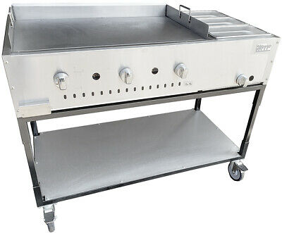 "New. 48"" Taco Cart Griddle plate w/ Steam, LP Reg & Inserts Made in USA by Ekono"