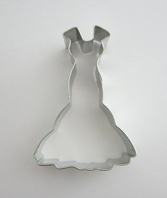 """4"""" Wedding Dress Gown Tin Plated Steel Fondant Pastry Cookie Cutter Prom Party"""