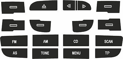 Set of Stickers to repair the buttons on your Audi A3 Radio from 2010