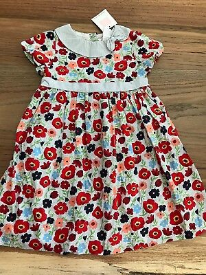 NWT Janie and Jack summer party dress ladybug poppy floral print sz 4t orig $49