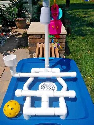 Birdie Water Park!  Shower  Bath Perch Stand Self Contained Parrot Play