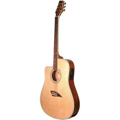 Kona K2LN Left Handed Acoustic Electric Guitar Pack w/Case, Stand, Strap & Tuner