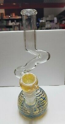 """Hookah Water Pipe Bong Glass 8"""" two curves USA Shipper *Free Shipping* Asst.col"""