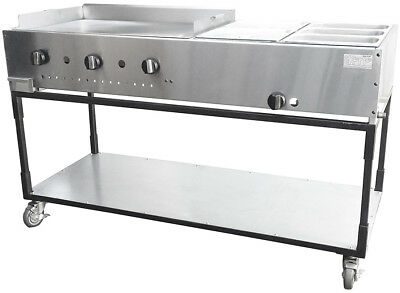 "New. 60"" Taco Cart. Griddle w/ Double Steam. Made in USA by Ekono. PRICE REDUCED"
