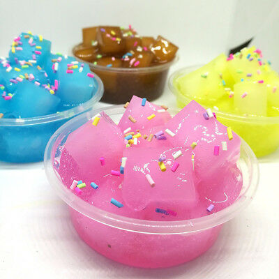 Coconut Fruit Crystal Mud Clay Slime Putty Plasticine Sludge Stress Relief Toy S