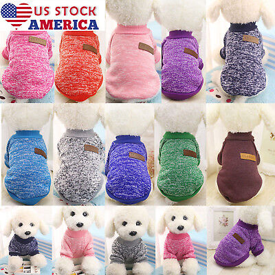 US Stock Pet Coat Dog Jacket Winter Clothes Puppy Cat Sweater Clothing Apparel