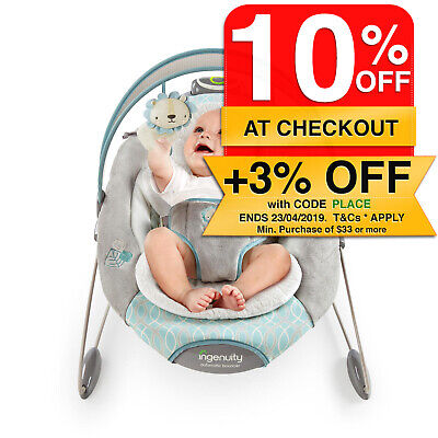 Ingenuity SmartBounce Cambridge Auto Baby/Infant Bouncer/Rocking Chair/Toy/Music