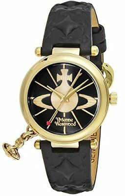4a1c61fe9e VIVIENNE WESTWOOD ORB II 2 VV006 VV006BKGD Gold Ladies Watch wit From japan