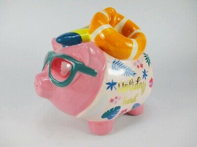 Spardose Sparschwein Holiday Surfbrett Schwimmring 17cm,Money Box Bank