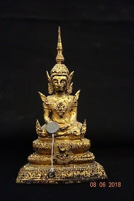 Ancien Bouddha en Bronze Siam Indochine Old Buddha