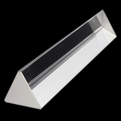 Rainbow Optical Glass Triangular Prism Physics Experiment Light Spectrum 15cm 6""