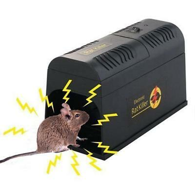Electronic Mouse Rat Killer Rodent Repeller Electric Trap Zapper Pest Control
