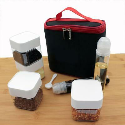 Outdoor Portable Camping BBQ Seasoning Spice Box Set Sauce Pot Oil Liquid Bottle