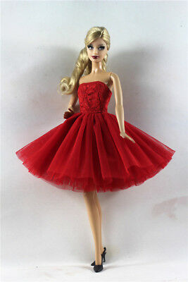 Red Lovely Fashion Dress/Clothes/Ballet Dress For 11.5in.Doll b11
