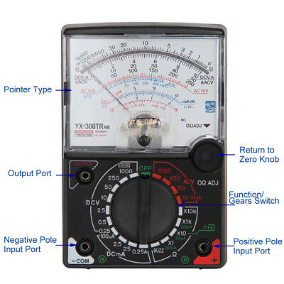 Analogue Meter Multimeter Multitester Fuse Diode Protection DC & AC Efficient