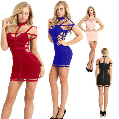 Fashion Women Off Shoulder Bodycon Casual Party Evening Cocktail Club Mini Dress