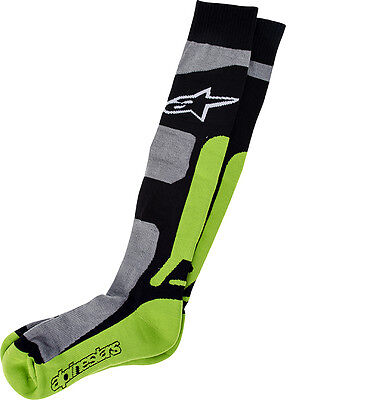 New Alpinestars Adult L/XL MX Pro Socks Green Coolmax  Motocross Enduro