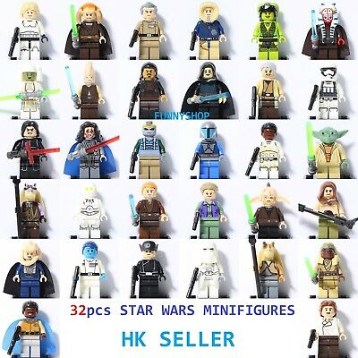 Star Wars Minifigures First Order Stormtrooper Kylo Ren Han Solo Yoda Fits Lego