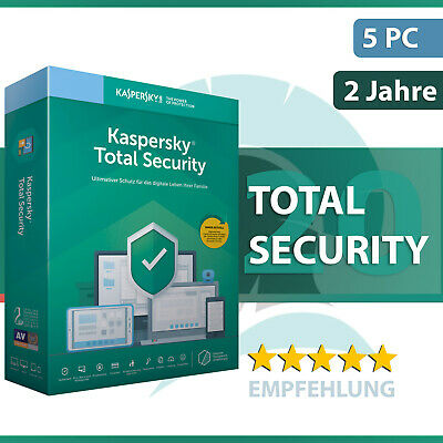 Kaspersky Total Security 19 (2019) 5 Geräte / PC - 2 Jahre