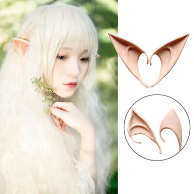 Ne_ Gn- 1 Pair Soft Artificial Elf Ears Halloween Prop Cosplay Club Party Supp